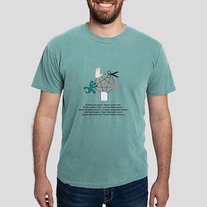rock paper scissor lizar Mens Comfort Colors Shirt
