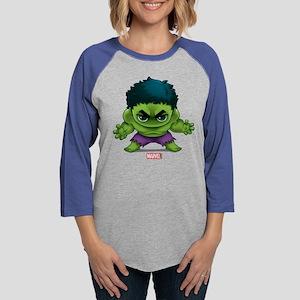 Chibi Hulk 2 Womens Baseball Tee