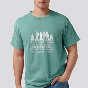 Stand Behind Troops Whit Mens Comfort Colors Shirt