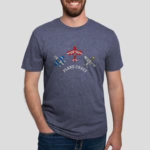 Plane Crazy Aviation  Mens Tri-blend T-Shirt