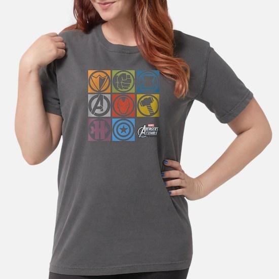 Avengers Squares Womens Comfort Colors Shirt