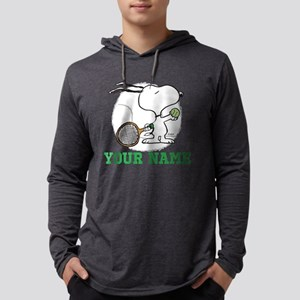 Snoopy Tennis Personalized  Mens Hooded Shirt