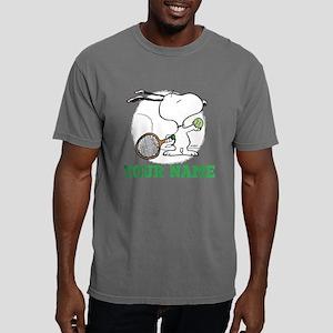 Snoopy Tennis Personaliz Mens Comfort Colors Shirt