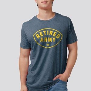Retired Army Mens Tri-blend T-Shirt