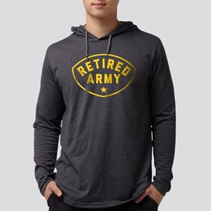 Retired Army Mens Hooded Shirt