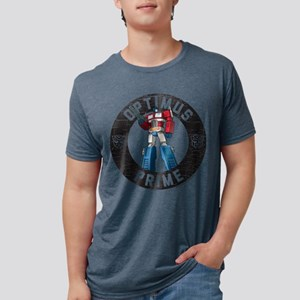 Optimus Prime Circle Mens Tri-blend T-Shirt