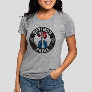 Optimus Prime Circle Womens Tri-blend T-Shirt