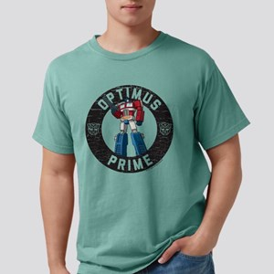 Optimus Prime Circle Mens Comfort Colors Shirt