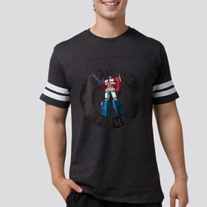 Optimus Prime Circle Mens Football Shirt