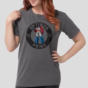 Optimus Prime Circle Womens Comfort Colors Shirt