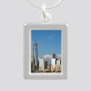 New! New York City USA - Silver Portrait Necklace