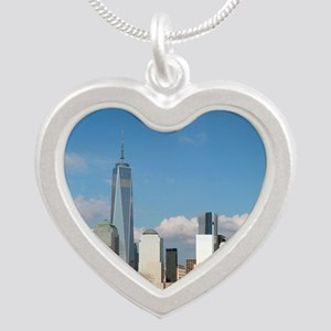 New! New York City USA - Pro Silver Heart Necklace