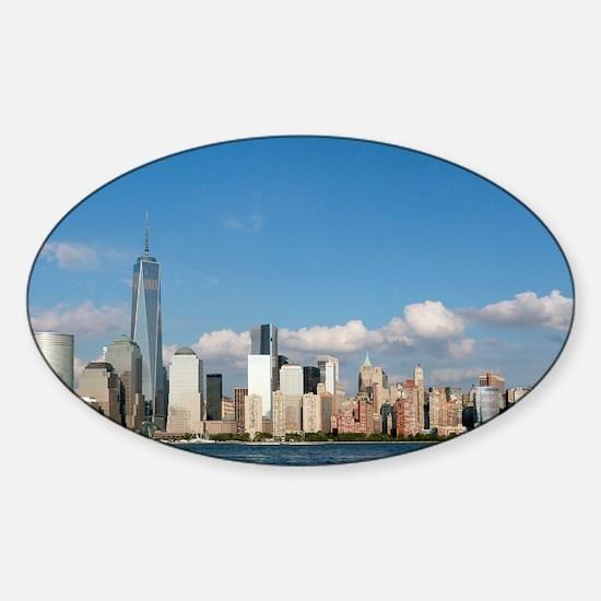 New! New York City USA - Pro Photo Sticker (Oval)