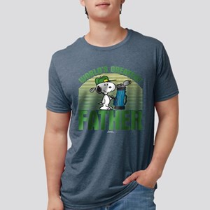 Golf Father Dark Mens Tri-blend T-Shirt