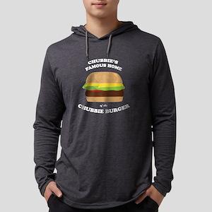 Chubbie's Famous Burger Mens Hooded Shirt