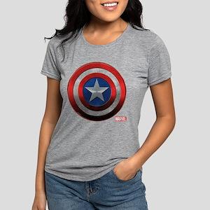 Captain America Icon Womens Tri-blend T-Shirt