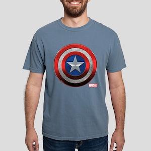 Captain America Icon Mens Comfort Colors Shirt