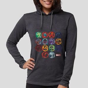 Marvel All Splatter Icons Womens Hooded Shirt