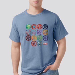 Marvel All Splatter Icon Mens Comfort Colors Shirt
