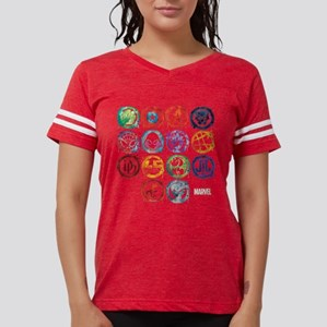 Marvel All Splatter Icons Womens Football Shirt