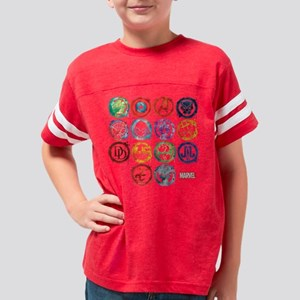 Marvel All Splatter Icons Youth Football Shirt