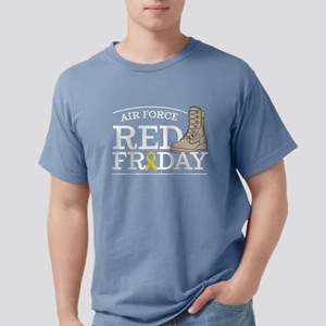 USAF RED Friday Boots Mens Comfort Colors Shirt