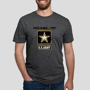Custom U.S. Army Gold Star  Mens Tri-blend T-Shirt
