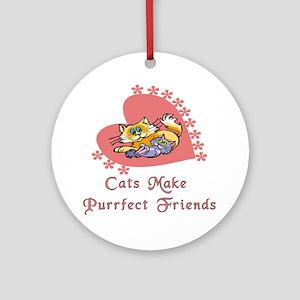 Purrfect Friends Ornament (Round)