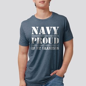 U.S. Navy Proud Of Grandson Mens Tri-blend T-Shirt