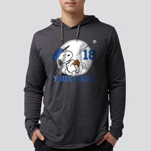 Snoopy Baseball Personalized - D Mens Hooded Shirt
