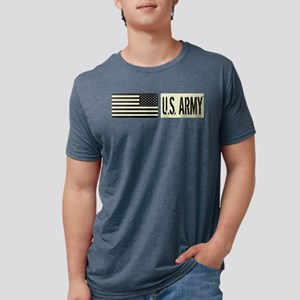 U.S. Army: U.S. Army (Black Mens Tri-blend T-Shirt