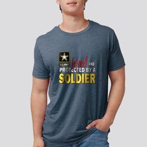 Loved Protected Soldier Mens Tri-blend T-Shirt