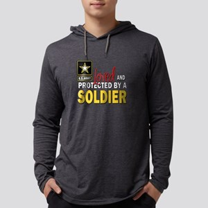 Loved Protected Soldier Mens Hooded Shirt