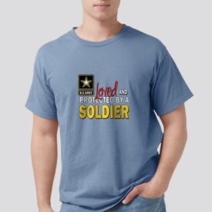 Loved Protected Soldier Mens Comfort Colors Shirt