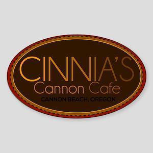 Cinnia's Cannon Cafe Sticker (Oval)
