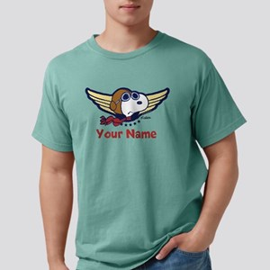 Snoopy Ace Personalized  Mens Comfort Colors Shirt