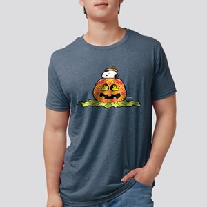 Day of the Dead Snoopy Pump Mens Tri-blend T-Shirt