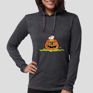 Day of the Dead Snoopy Pumpkin Womens Hooded Shirt