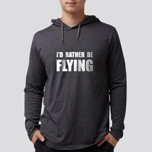 Rather Be Flying White Mens Hooded Shirt