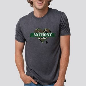 Army Personalized Heart Mens Tri-blend T-Shirt