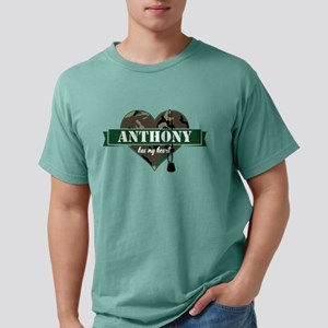 Army Personalized Heart Mens Comfort Colors Shirt