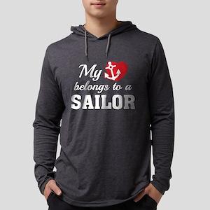 HeartBelongsSailor1B Mens Hooded Shirt