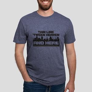 Thin Line Mens Tri-blend T-Shirt
