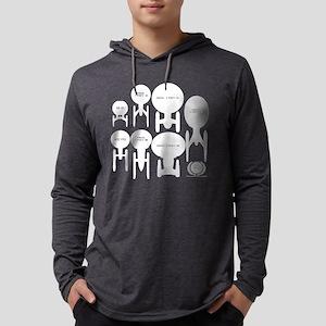 Starship Enterprise History for  Mens Hooded Shirt