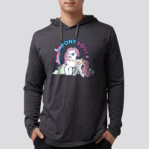 MLP Retro Pony Love Dark Mens Hooded Shirt