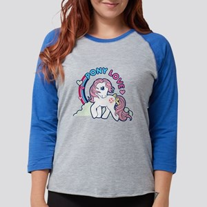 MLP Retro Pony Love Dark Womens Baseball Tee