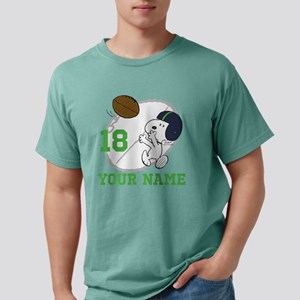 Snoopy Football Personal Mens Comfort Colors Shirt