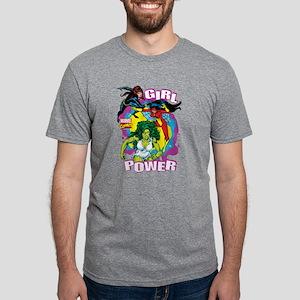 Marvel Comics Girl Power 1 Mens Tri-blend T-Shirt