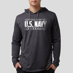 Proud To Be A U.S. Navy Veteran Mens Hooded Shirt
