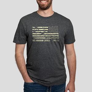 USS Abraham Lincoln Mens Tri-blend T-Shirt